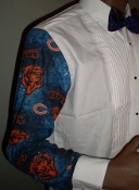 Chicago Bears themed tuxedo shirt by tacky tux