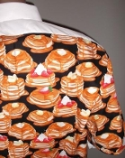 pancakes themed tuxedo party shirt by Tacky Tux