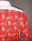 MLB Cardinals themed tuxedo shirt by tacky tux