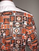 MLB Giants themed tuxedo shirt by tacky tux