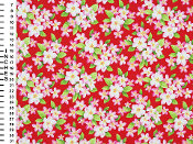 Hawaiian Floral Red Pink White